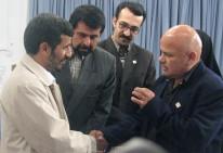 Luis Arias Manzo con el presidente de Irán Mahmud Ahmadineyad 2007