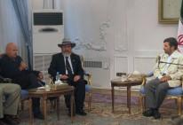 Luis Arias Manzo con Mahmud Ahmadineyad en audiencia en Teherán 2007