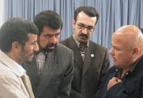 Luis Arias Manzo con Mahmud Ahmadineyad en Palacio en Teherán 2007
