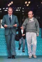 Luis Arias Manzo conel ministro de educación Ricardo Lagos Escobar, 1991