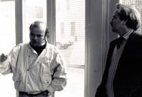 Luis Arias Manzo con Regis Debray en Oullins, Francia 1988