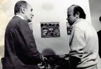 Luis Arias Manzo conversa con el Presidente François Mitterrand 1988