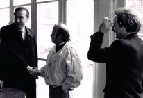 Roland Bernard, Luis Arias Manzo y Regis Debrey en Oullins, Francia