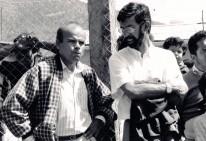 Luis Arias Manzo con Marcelo Schilling en inauguración de Edetrem 1991