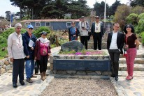 In Isla Negra, Chile, in the tomb of Pablo Neruda, with